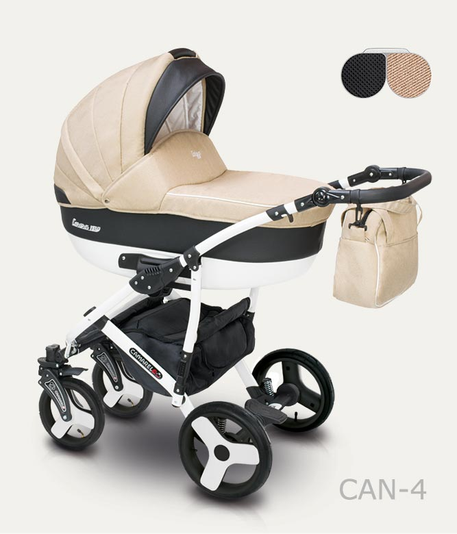 Carucior copii 3 in 1 Carera New Camarelo color CAN-4