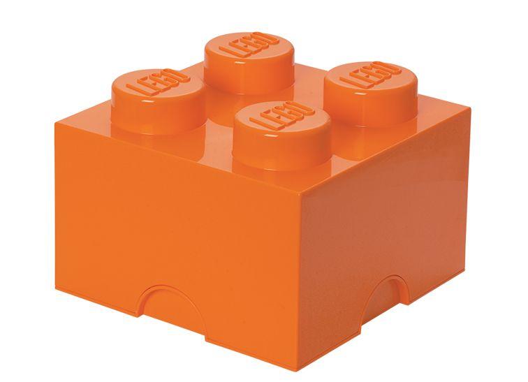 Cutie depozitare 2x2 portocalie