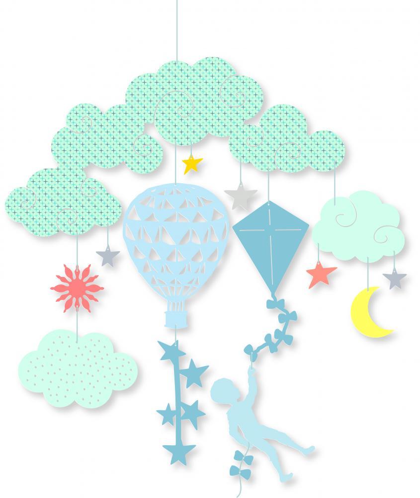 Decoratie mobila Printre nori