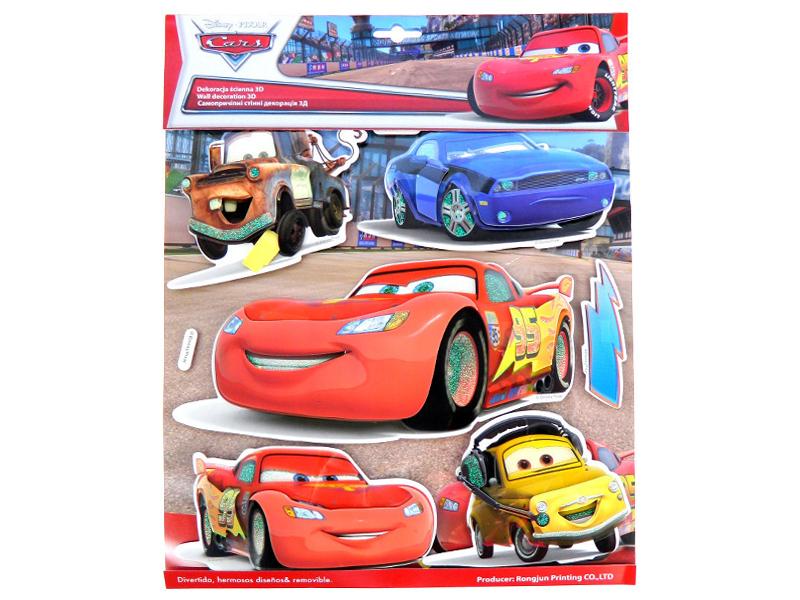 Decoratiune din burete pentru camera copii Cars SPH-117