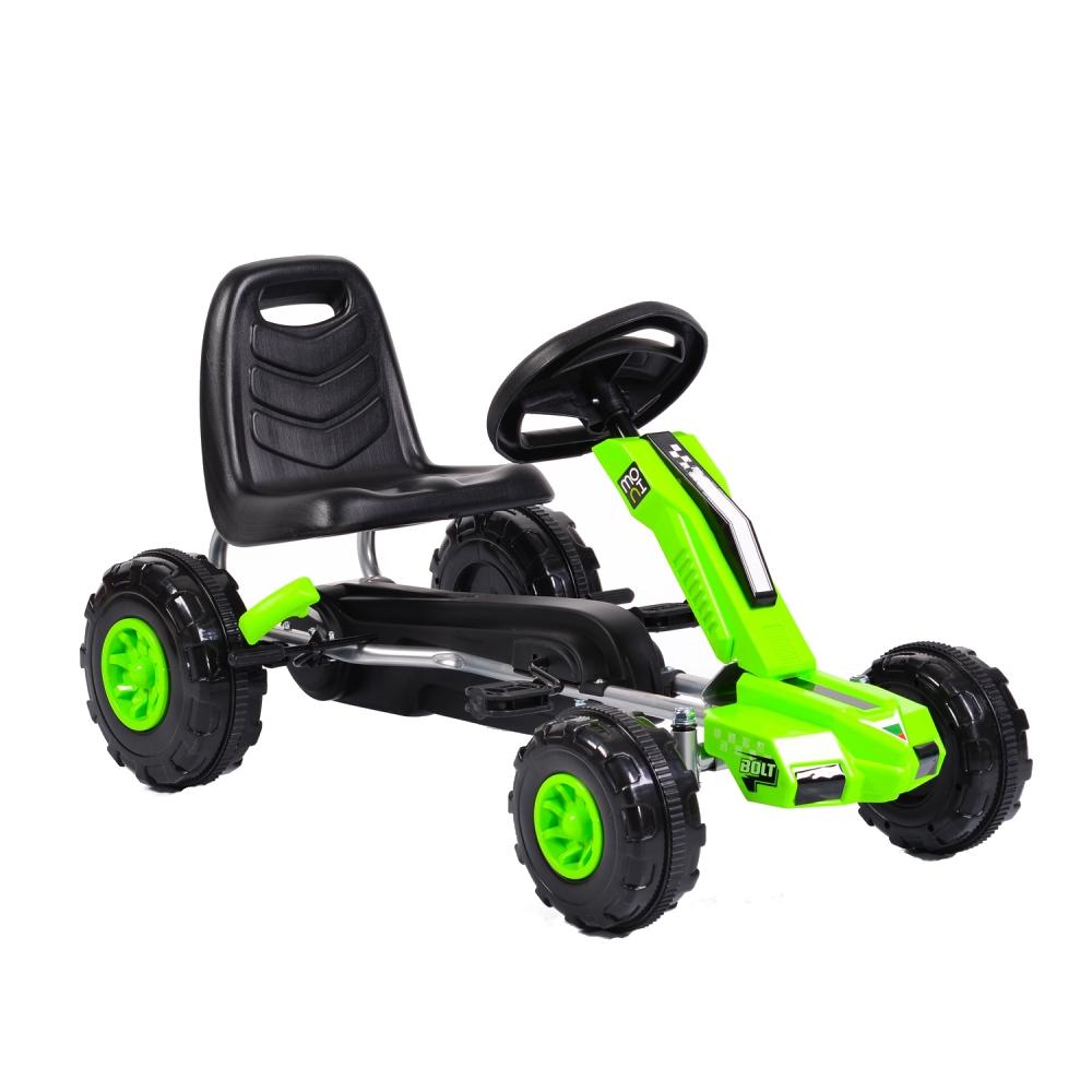 Kart cu pedale pentru copii Bolt Green