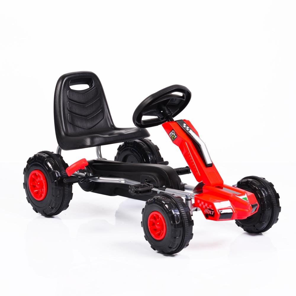 Kart cu pedale pentru copii Bolt Red