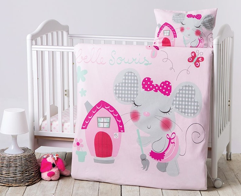 Lenjerie Patut Cu 4 Piese Pink House Type 4