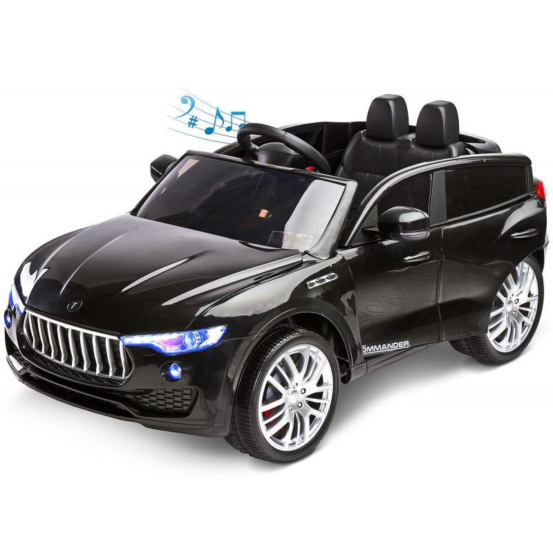 Masinuta electriva Toyz Commander 12V cu telecomanda Black