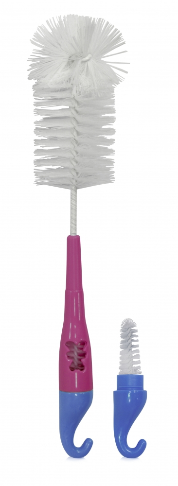 Perie pentru biberoane si tetine B1896 roz
