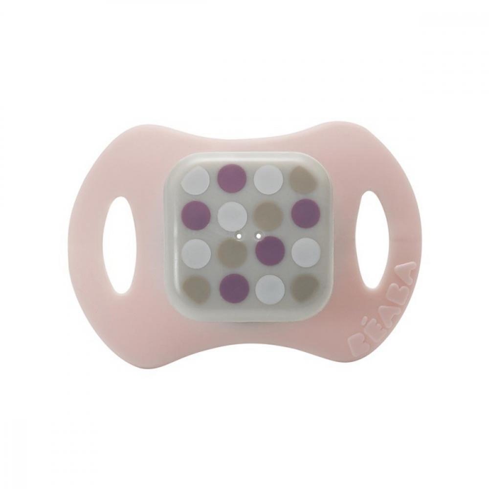 Set 2 suzete medii din silicon roz pastel