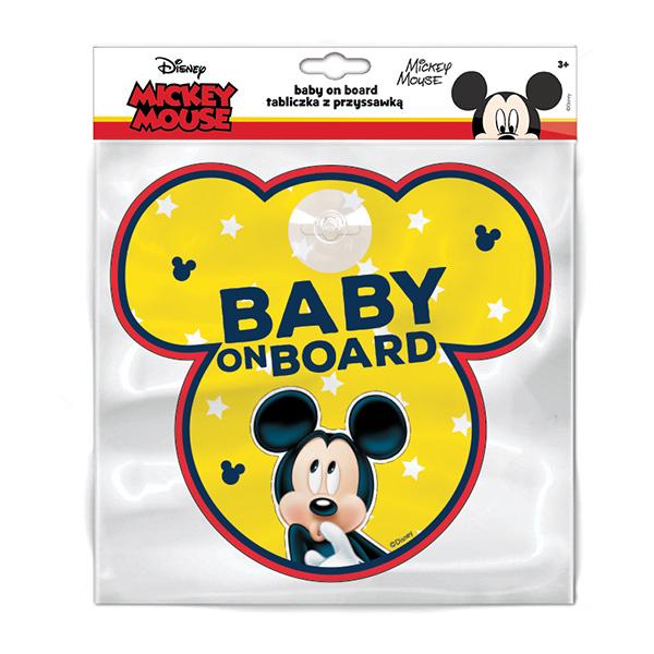Semn de avertizare Baby on Board Mickey Seven SV9612 imagine