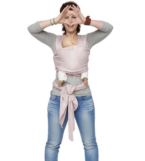Sistem purtare Bykay Wrap Elastic Deluxe 3.5-18 kg pink
