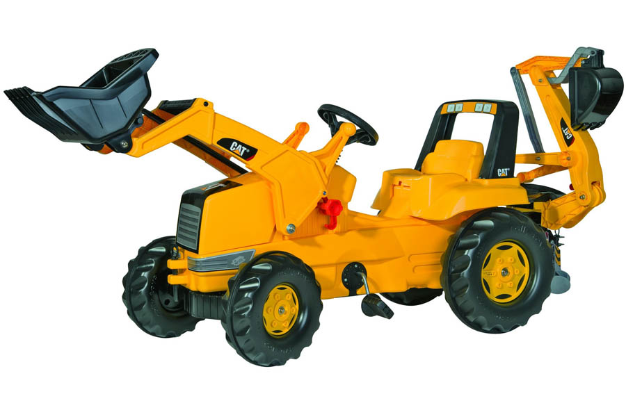 Tractor cu pedale Rolly Toys tip Buldoexcavator CAT imagine