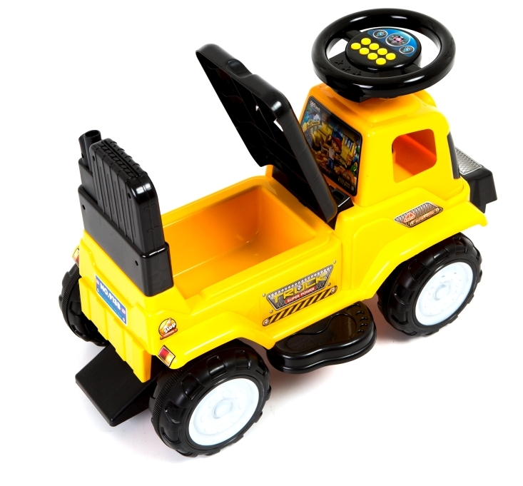 Tractor fara pedale Yellow