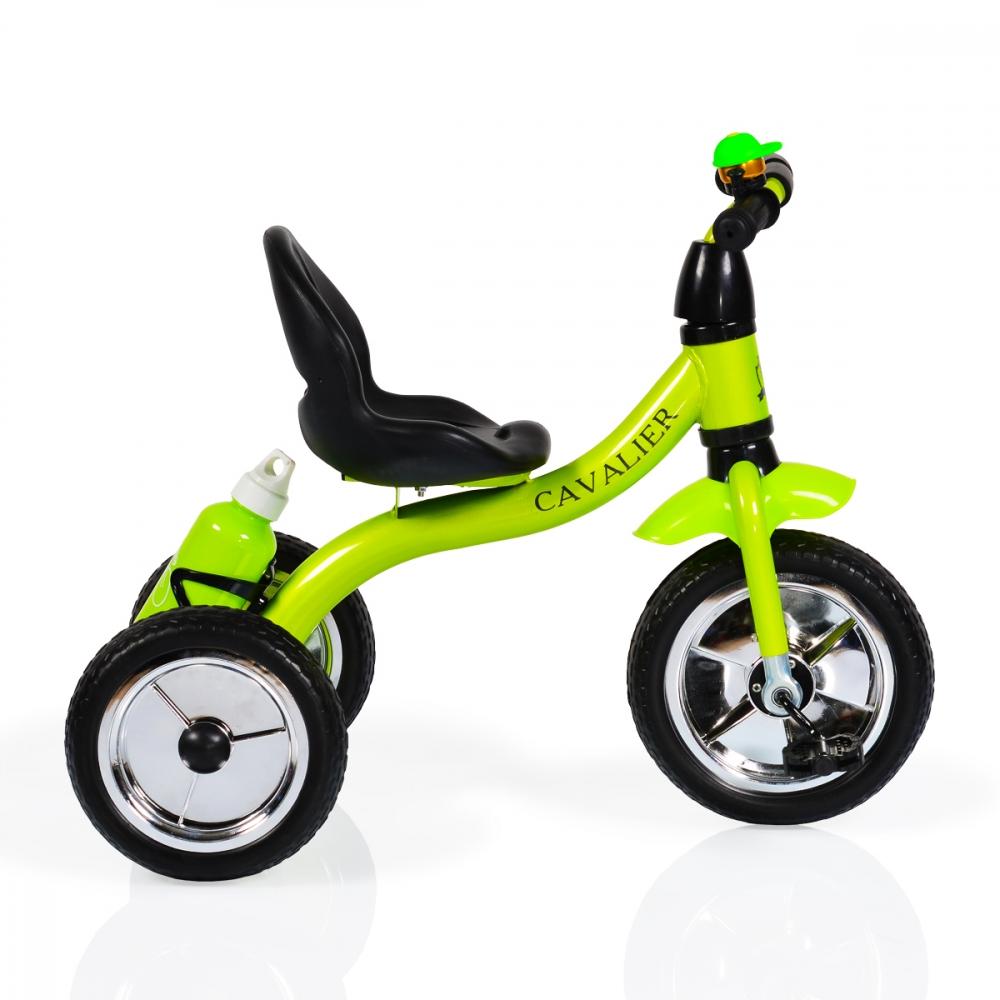 Tricicleta cu roti din cauciuc Byox Cavalier Green