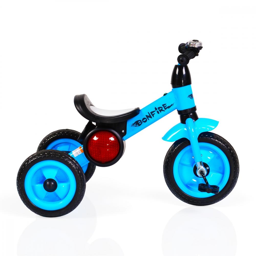 Tricicleta cu roti din cauciuc Byox Bonfire Blue