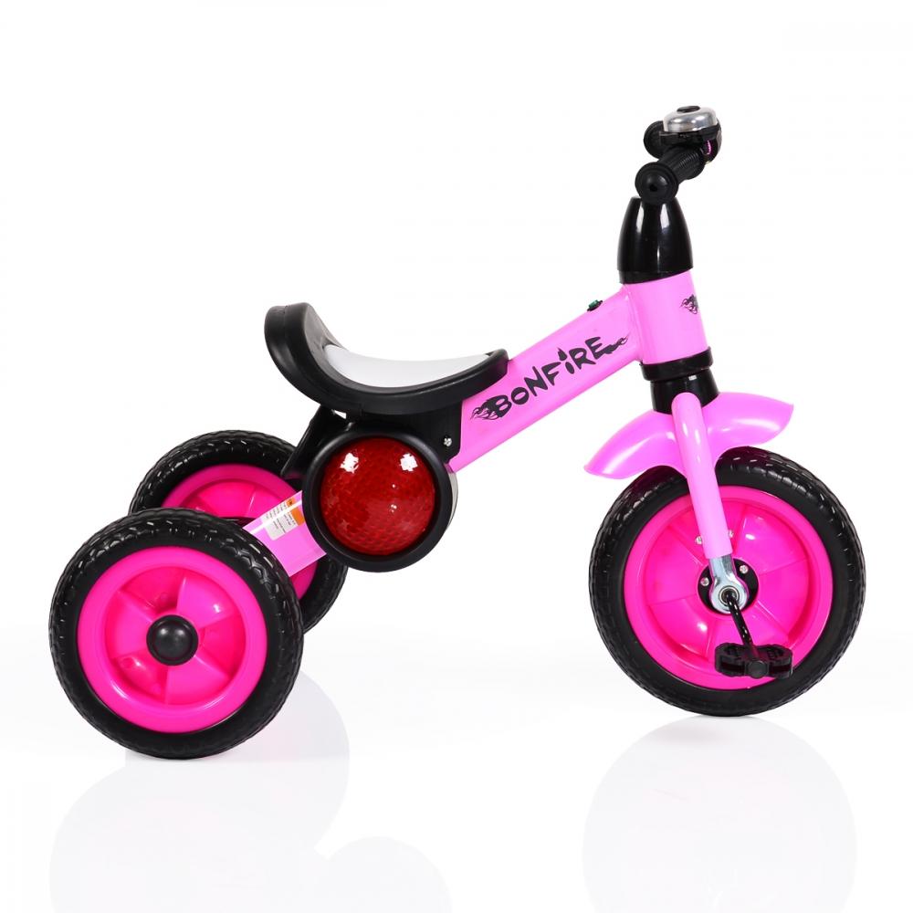 Tricicleta cu roti din cauciuc Byox Bonfire Pink imagine