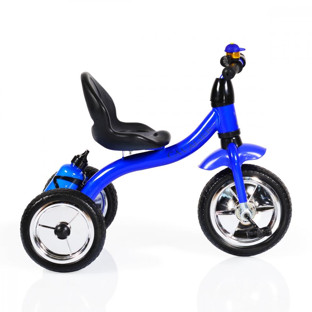 Tricicleta cu roti din cauciuc Byox Cavalier Blue imagine