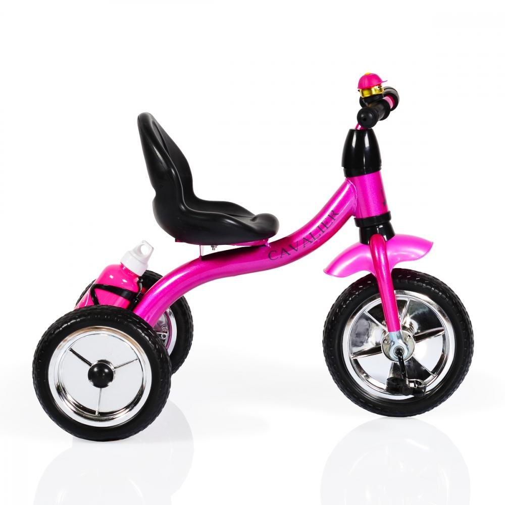 Tricicleta cu roti din cauciuc Byox Cavalier Pink imagine
