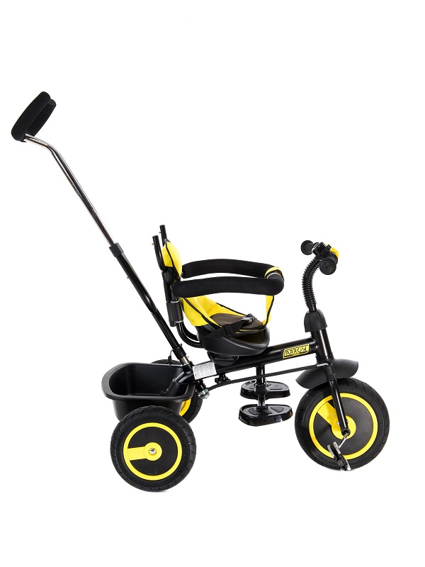 Tricicleta pentru copii 3 in 1 Arrow Yellow