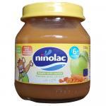 Borcan piure din banane, mere si piersici Ninolac 6 luni+ 130g