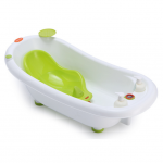 Cadita ergonomica cu reductor detasabil si termometru Little Mom Green