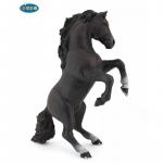 Cal negru cabrat  Figurina Papo