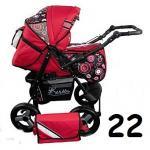 Carucior multifunctional Kerttu Twist-R 22 rosu cu cerculete