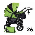 Carucior multifunctional Kerttu Twist-R 26 negru cu verde