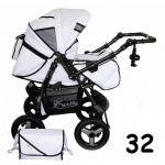 Carucior multifunctional Kerttu Twist-R 32 alb