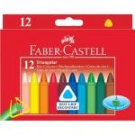 Set 12 creioane cerate triunghiulare Faber-Castell 0