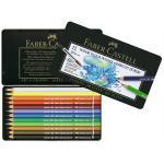 Creioane colorate Acuarela A.Durer Faber-Castell  12 culori, cutie metal