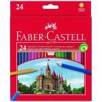 Creioane Faber-Castell 24 culori si ascutitoare
