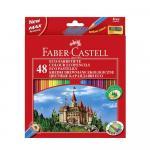 Creioane Faber-Castell 48 culori si ascutitoare