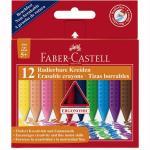 Creioane colorate Faber-Castell 12 culori jumbo