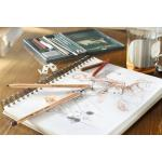 Creion ulei rosu sangvin Faber-Castell 0