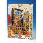 Felicitare 3D Pisoi pe biblioteca Swing Cards