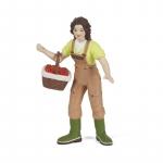 Figurina Papo  Femeie fermier cu cos