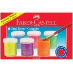 Acuarele guase 6 Culori fluorescente Faber-Castell 0