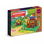 Joc de constructie magnetic Magformers set cabana