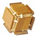 Joc logic IQ din lemn bambus 3D Magic box