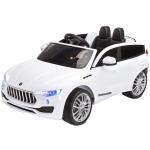 Masinuta electriva Toyz Commander 12V cu telecomanda White