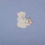 Paturica bebelusi cu Broderie Polar Fleece 90 x 80 cm Womar Zaffiro PT-PF-01