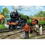 Pictura creativa pe numere avansati  Trenul
