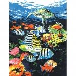 Pictura pe panza 23x31x33  Adancurile oceanului