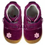 Pantofiori bebelusi Suede Flower Purple 22