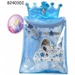 Rucsac cu accesorii pentru par 8 piese Cinderella