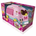 Rulota de dulciuri si bomboane cu efecte luminoase si sonore, figurina articulata si accesorii  Minnie Mouse
