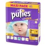 Scutece Pufies Baby Art 2 mini Maxi Pack 76 buc