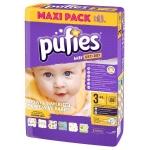 Scutece Pufies Baby Art 3 midi Maxi Pack 68 buc