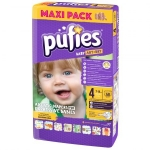 Scutece Pufies Baby Art 4 maxi Maxi Pack 58 buc