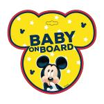 Semn de avertizare Baby on Board Mickey Seven SV9612