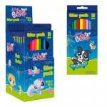 Set 12 creioane colorate Littlest Pets Shop