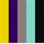Set filamente flexibile pentru 3Doodler - multicolore FLEXY